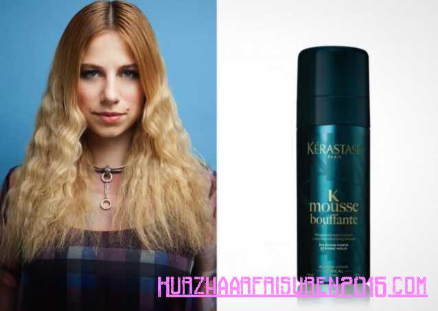 Haarpflege Tipps - moderne Crimp Wenn Sie ein wenig Crimp-y erhalten mochten gelten Mousse bouffante