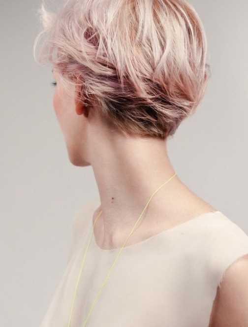 Kurze rosa Haarschnitt fur Frauen - neueste beliebte Haarfarbe kurzhaarfrisuren