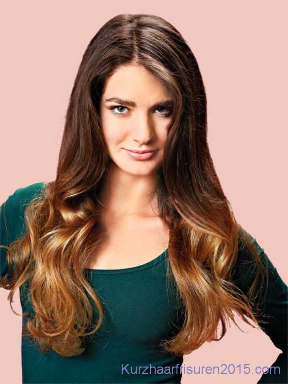 ombre hair braun farben dunkle haare helle spitzen