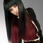 ombre hair farben schwarz rot haare