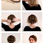 einfache Frisuren fur kurzes Haar fur die Schule