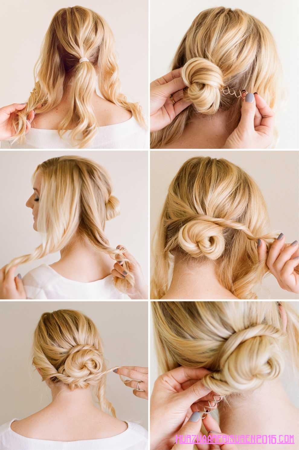 einfache haar tipps bun frisuren
