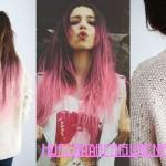 rosa ombre haarfarben zopffrisuren