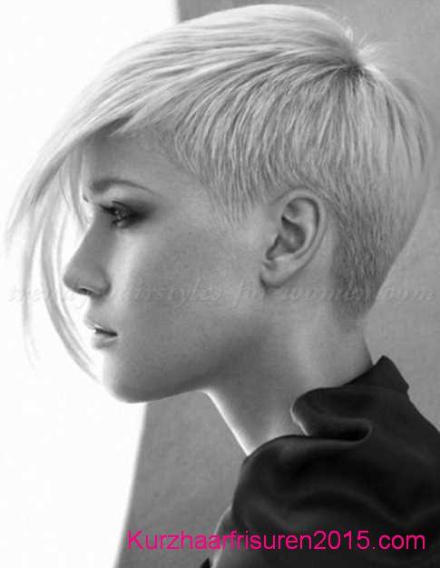 frisuren trends 2020 blond asymmetrische kurze haare frisuren
