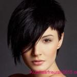 frisuren trends 2020 schwarz farben asymmetrische kurze frisuren