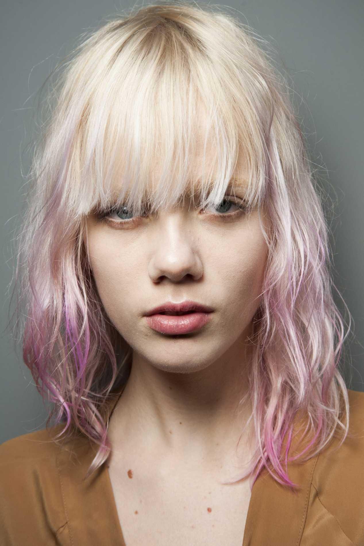 rosa blond frisuren herbst 2020